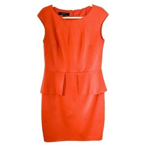 Nine West dress orange, peplum 12